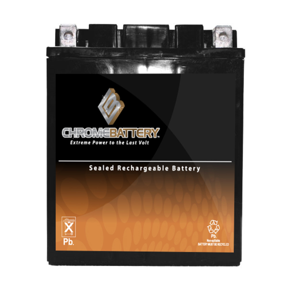 Chrome Battery YB14A-A2 High Performance Power Sports Bat...