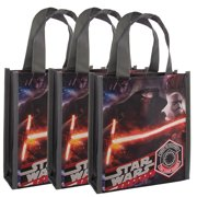 Ruz (3 Pack) Party Favor Goody Treat Bags With Handles Mini Kids Reusable Shopping Totes