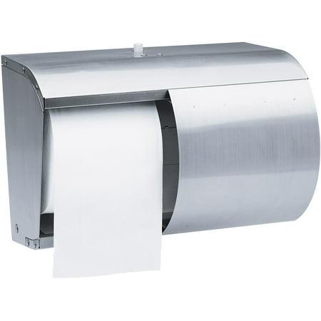Scott Pro Double Roll Coreless Toilet Paper Dispenser (09606), Stainless Steel Scott Toilet Paper Dispensers