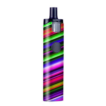Skin Decal For Wismec Motiv Pod Vape / Bright Stripes - Walmart com