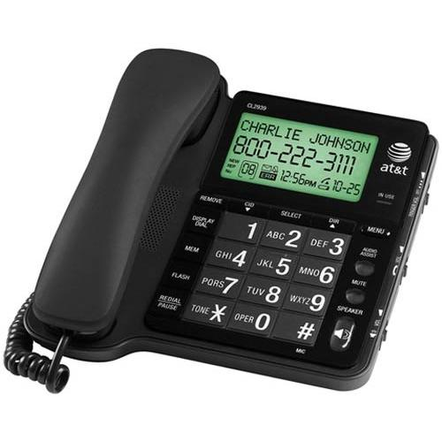 ip AT T CL Corded Speakerphone with Large Tilt Display Caller ID