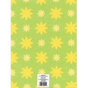 Printed Felt 9 Inch X 12 Inch-Lime/Yellow Flower