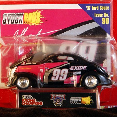 racing champions stock rods 1/64 scale diecast #99 jeff burton 37 ford coupe issue no. 90 50th anniversary limited edition