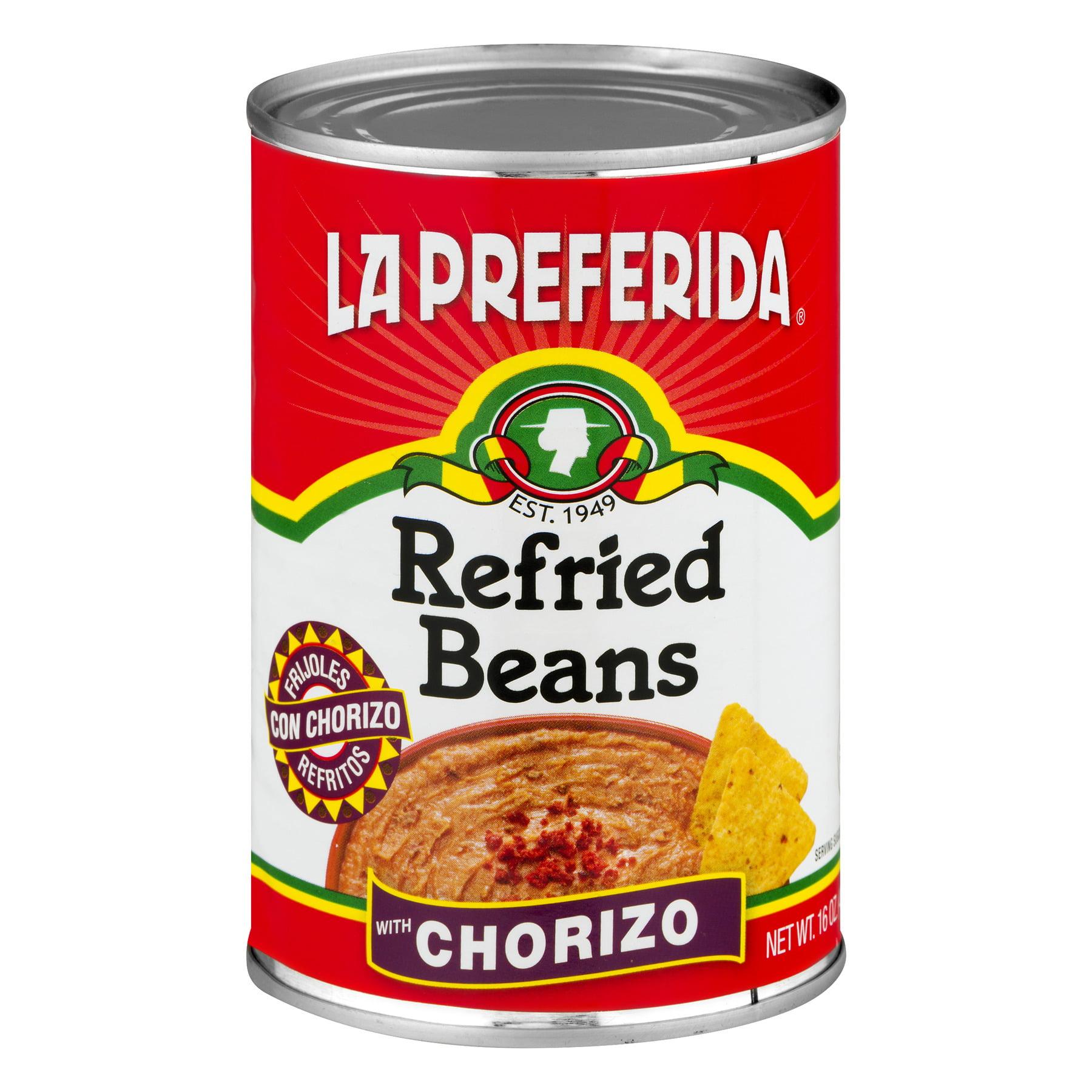 La Preferida Refried Beans With Chorizo, 16 Oz