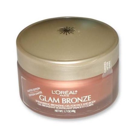 [3-pack] Loreal Glam Bronze, Shimmering Bronzing Gel for Face and Body, 1.7 Oz