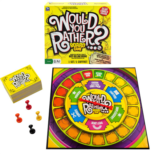 Spin Master Games Would You Rather Card Game