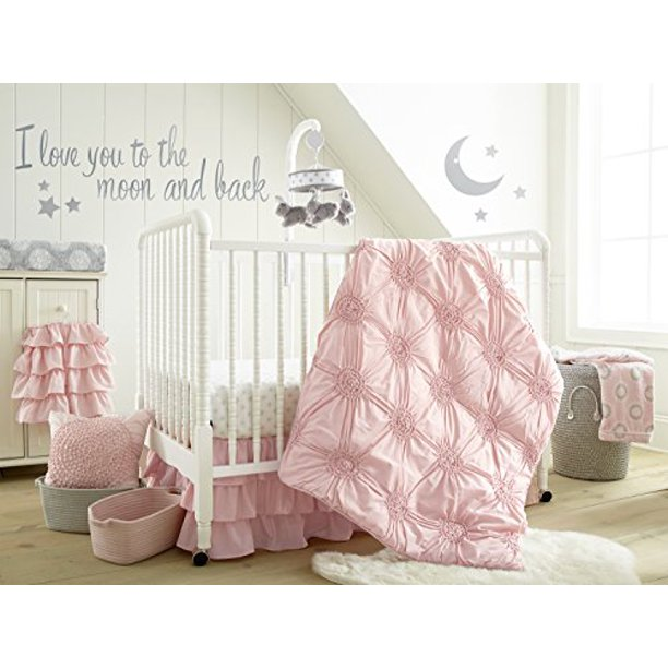 Levtex Home Baby Willow 5 Piece Crib, Light Pink Crib Bedding Set