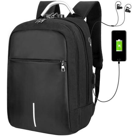 - Vbiger Men Women Backpack Casual Shoulder Bag Large-capacity Daypack Anti-theft Laptop Backpack, Fits 14'' Laptop, Black