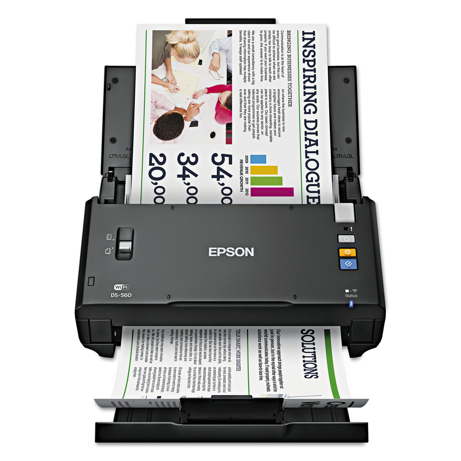 Epson WorkForce DS-560, 600 x 600 dpi, Black