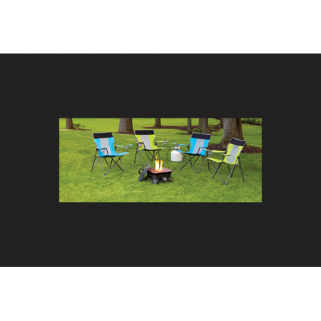 Living Accents Square Portable Propane Fire Pit 14.6 in. H x 18.7 in. W x 18.7 in. D Porcelain/S ()