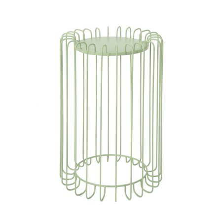 Pony Outdoor 22 Inch Metal Side Table, Green (Green Peony)