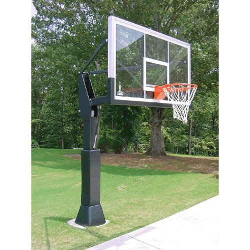 Barbarian 72 Inch Adjustable Inground Basketball Hoop
