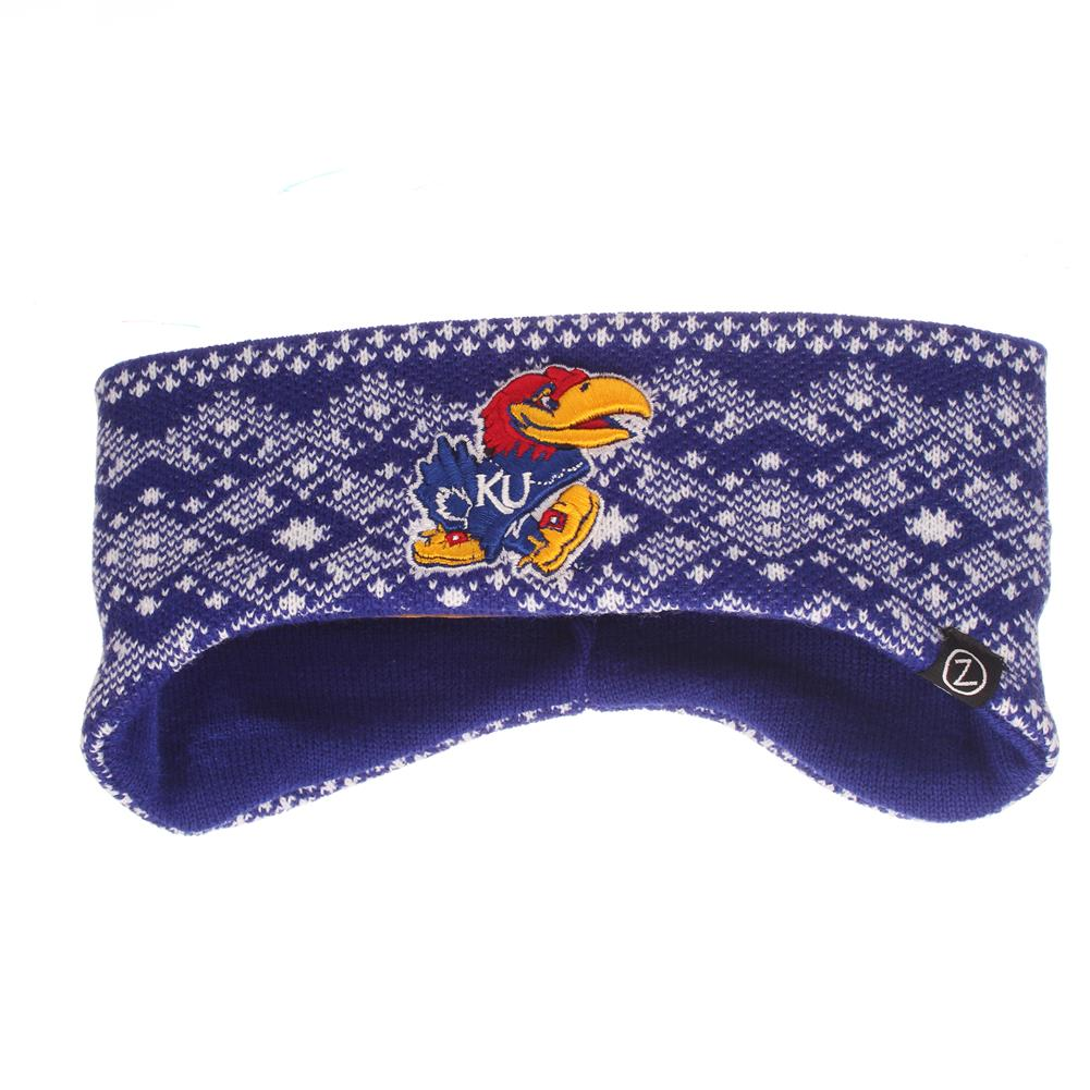 Knitted Kansas Jayhawks KU Headband by Zephyr