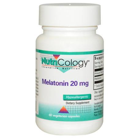 Nutricology, Melatonin, 20 mg, 60 Veggie Caps