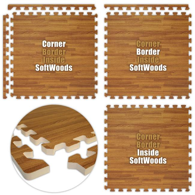 Alessco SWDO0408 SoftWoods -Dark Oak -4  x 8  Set