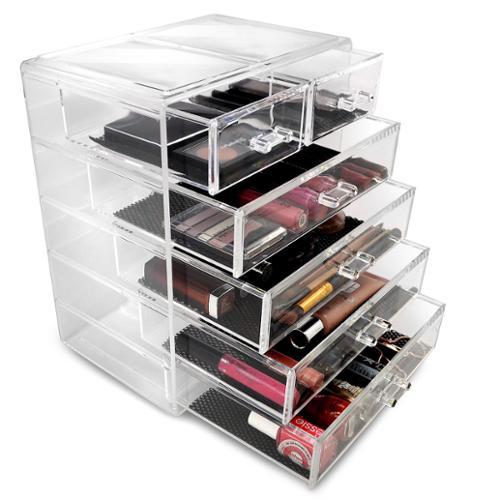 GGI International Acrylic Drawer Makeup Organizer with Removable Drawers
