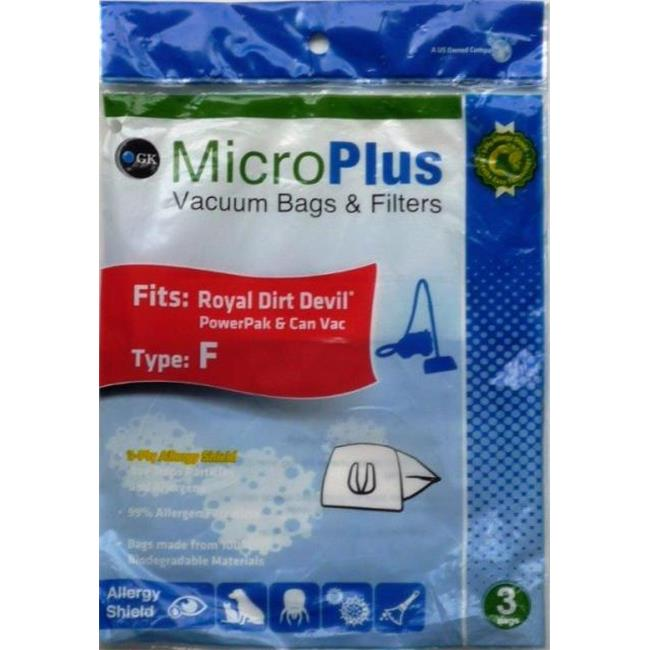 GK MicroPlus For Dirt Devil GKH-DDF Microplus 3 Ply Ecological Vacuum Bags- Pack of 75