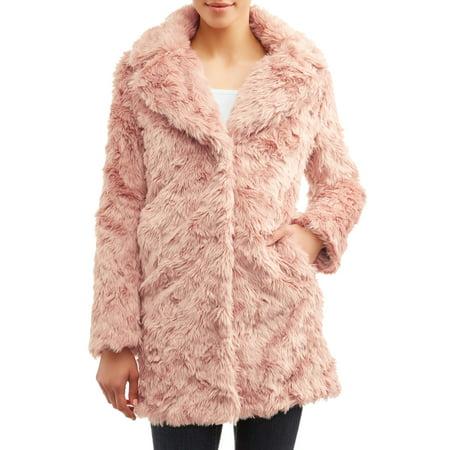 cheap jackets : Kendall + Kylie Women's Long Faux Fur Coat with Shag Fur Detail