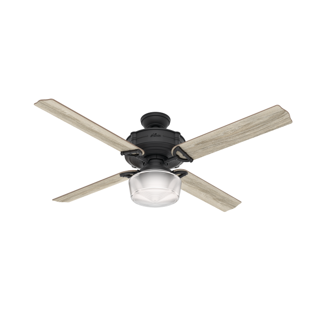 60 Hunter Brunswick With Globe Light Kit Wifi Natural Iron Ceiling Fan With Led Light Kit And Integrated Remote Control Walmart Com Walmart Com