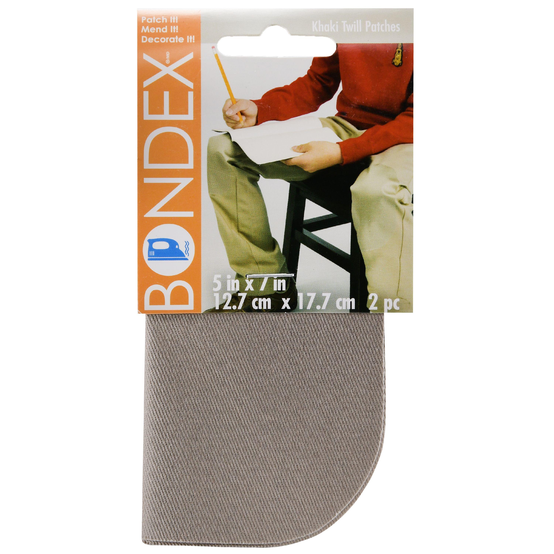 "Bondex 5/""x7/"" Faded Blue Denim Patch 2 Piece Pack"