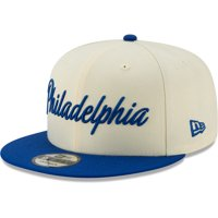 Philadelphia 76ers New Era 2019/20 City Edition On Court 9FIFTY Snapback Adjustable Hat - Cream/Blue - OSFA