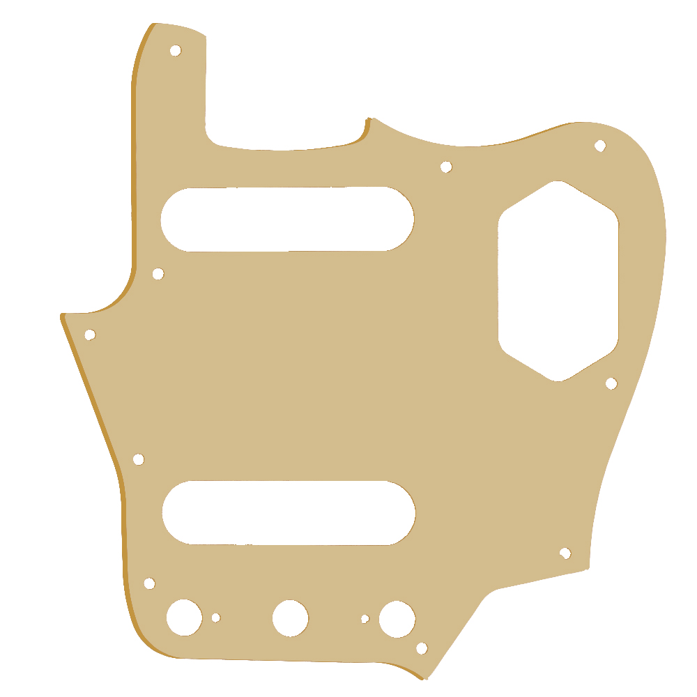 BQLZR Golden Mirror Surface 1-Ply 12 Holes Electric Guitar Pickguard Anti-scratch Plate Guitar Replacement