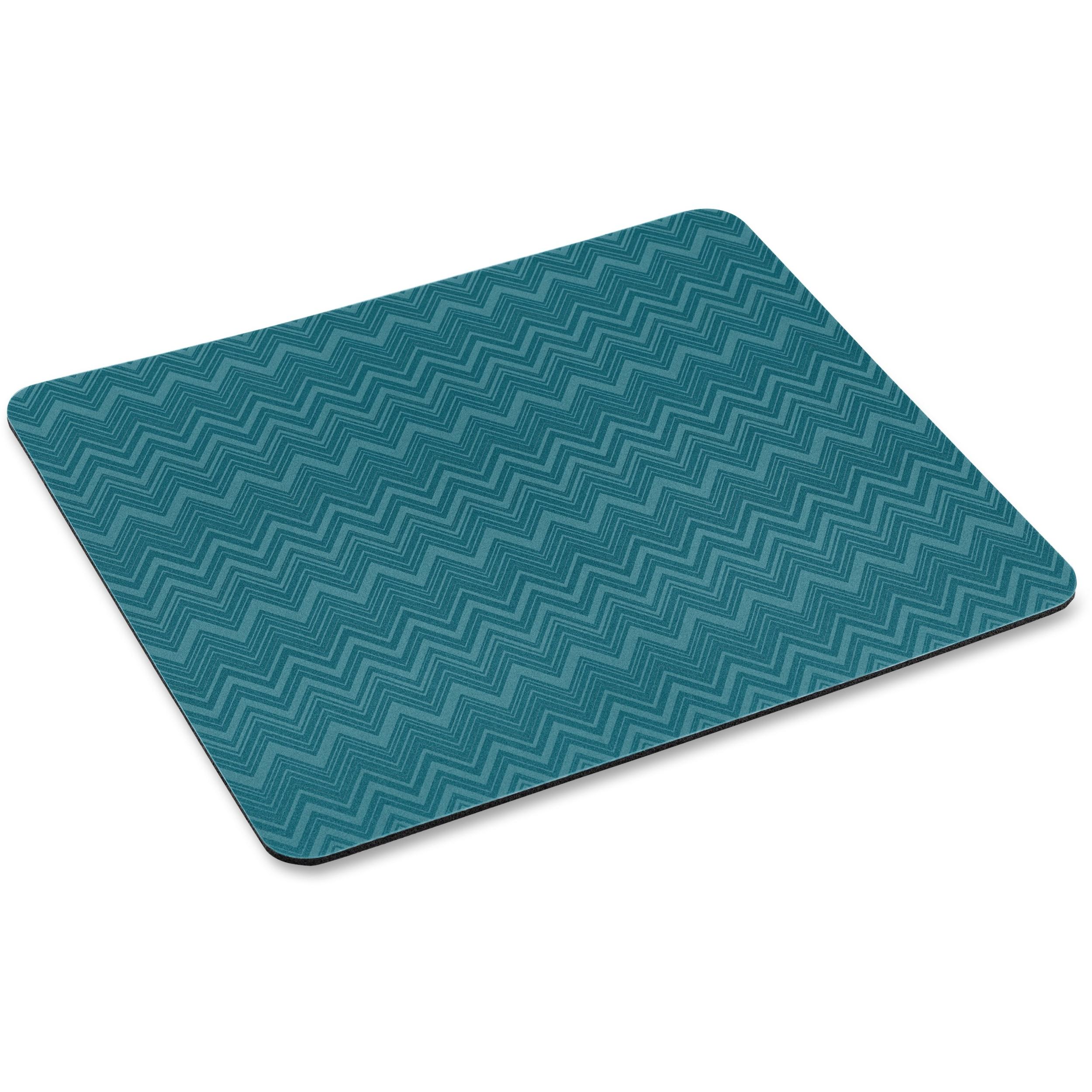 """3M Precise Mouse Pad - Chevron Green - 8"""" x 9"""" Dimension - Foam"""