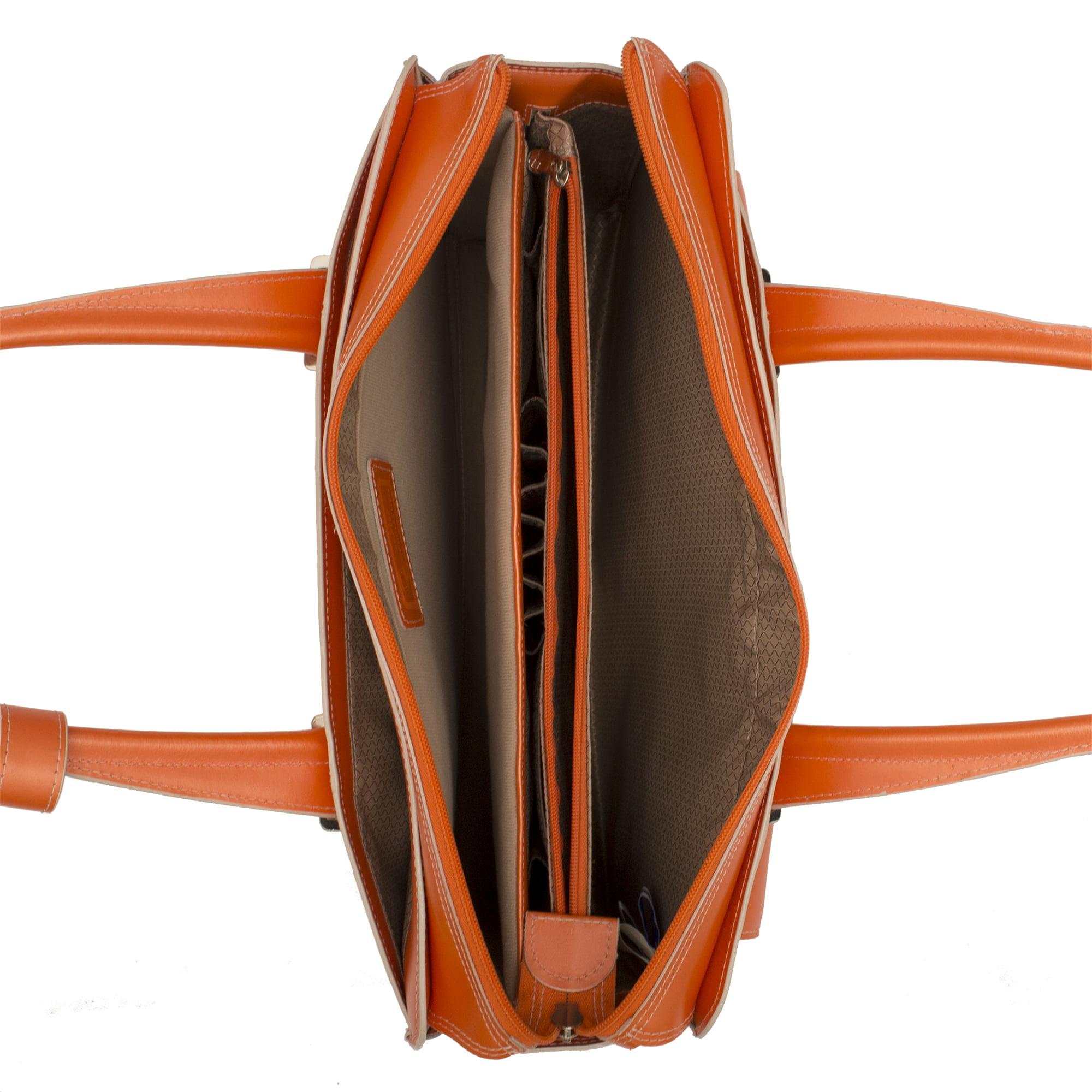 McKlein 96540 ALEXIS Leather Ladies Briefcase- Orange - image 2 of 4