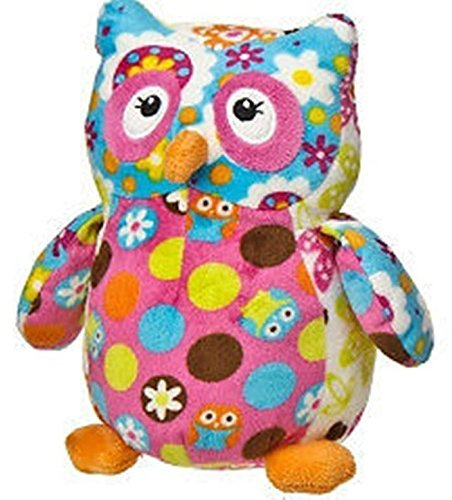 "Mary Meyer 7"" Print Pizzazz Olio Owl Dots and Flowers Stuffed Animal"