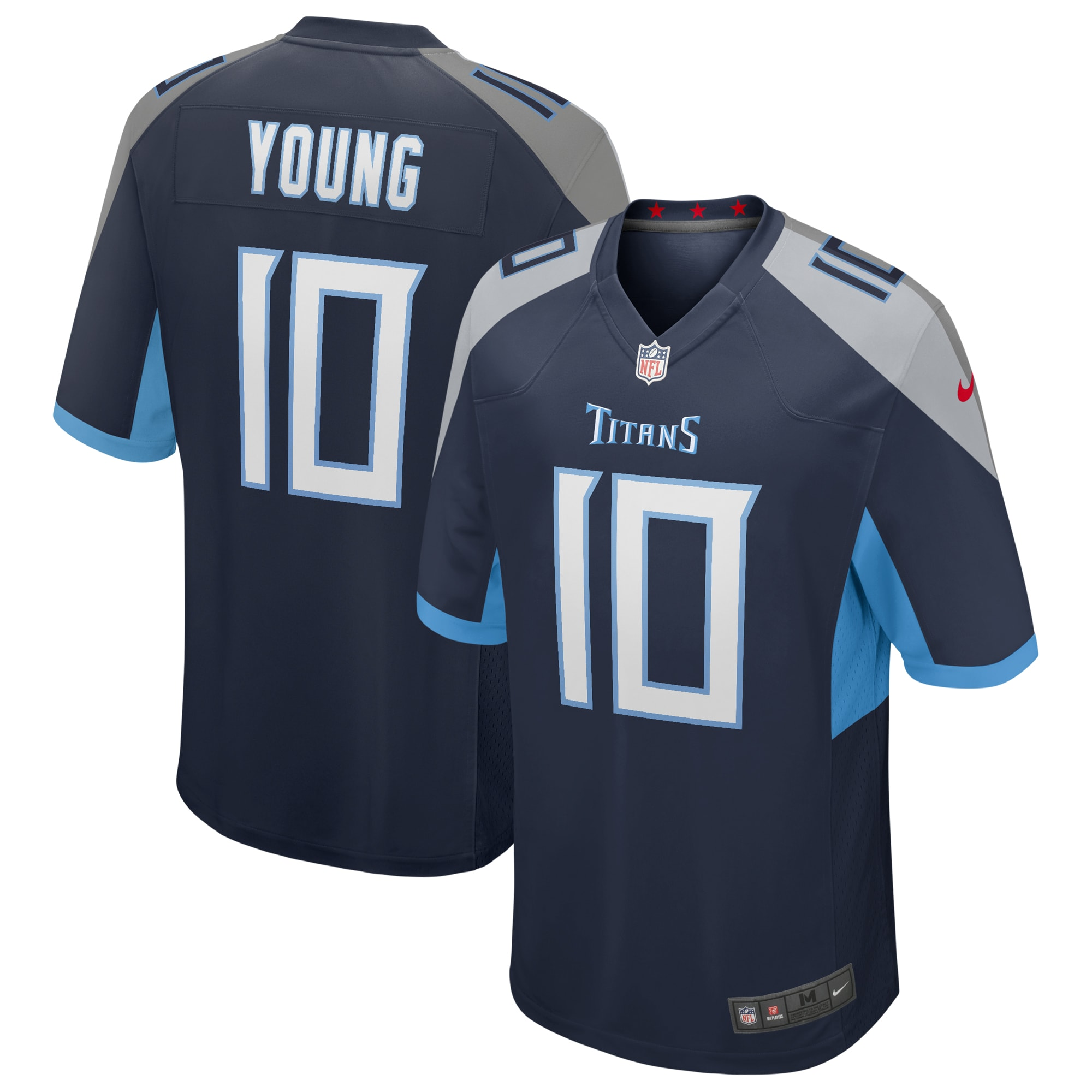 Vince Young Tennessee Titans Nike Game Retired Player Jersey - Navy - Walmart.com