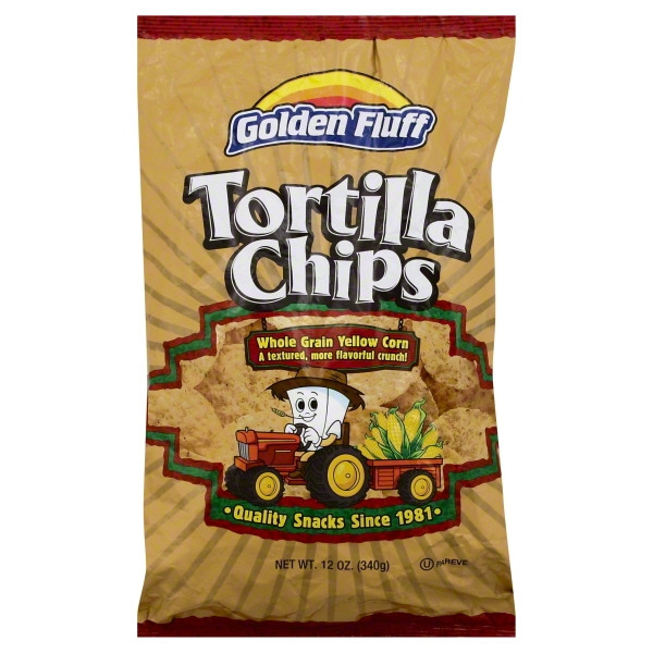 Golden Fluff Golden Fluff  Tortilla Chips, 12 oz