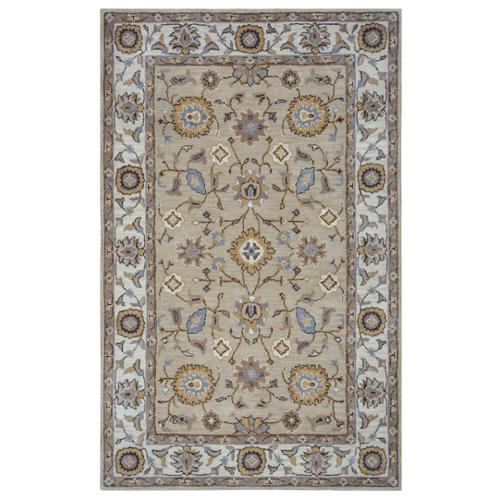 Arden Loft Hand-tufted Beige Central MedallionCrown Way Collection Wool Area Rug (9' x 12')