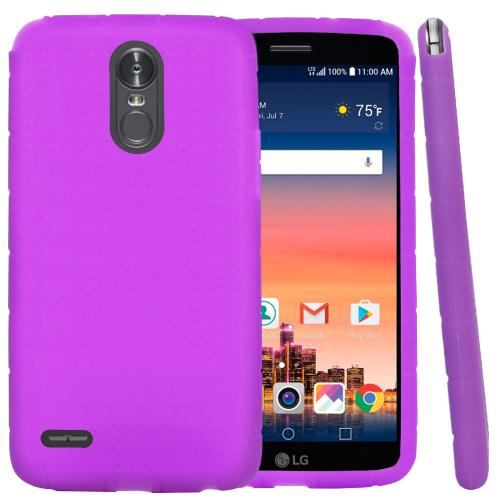 LG Stylo 3/ 3 Plus Silicone Case, Soft & Flexible Reinforced Silicone Skin Cover [Black]