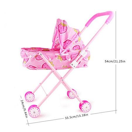 Deluxe Doll Pram/Stroller for Baby Reborn Dolls Nursing Playset - Pram Doll Stroller