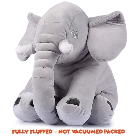 Adorable Stuffed Elephant Toy Cute Soft Plush Cuddly Fabric Great Gift Idea for Kids & Adults
