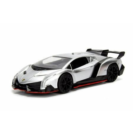 67 Gto Silver Car (2017 Lamborghini Veneno Hard Top, Silver - Jada 30101WA1 - 1/32 Scale Diecast Model Toy Car )
