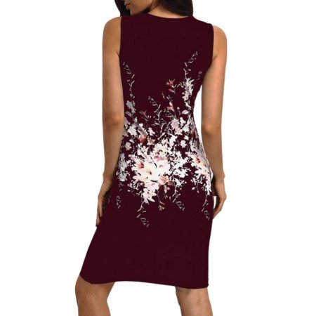 c7a6107d29 JLONG - JLONG 1Pcs Women Floral Lace Sleeveless Slim Bodycon Cocktail Party  Evening Pencil Dress - Walmart.com