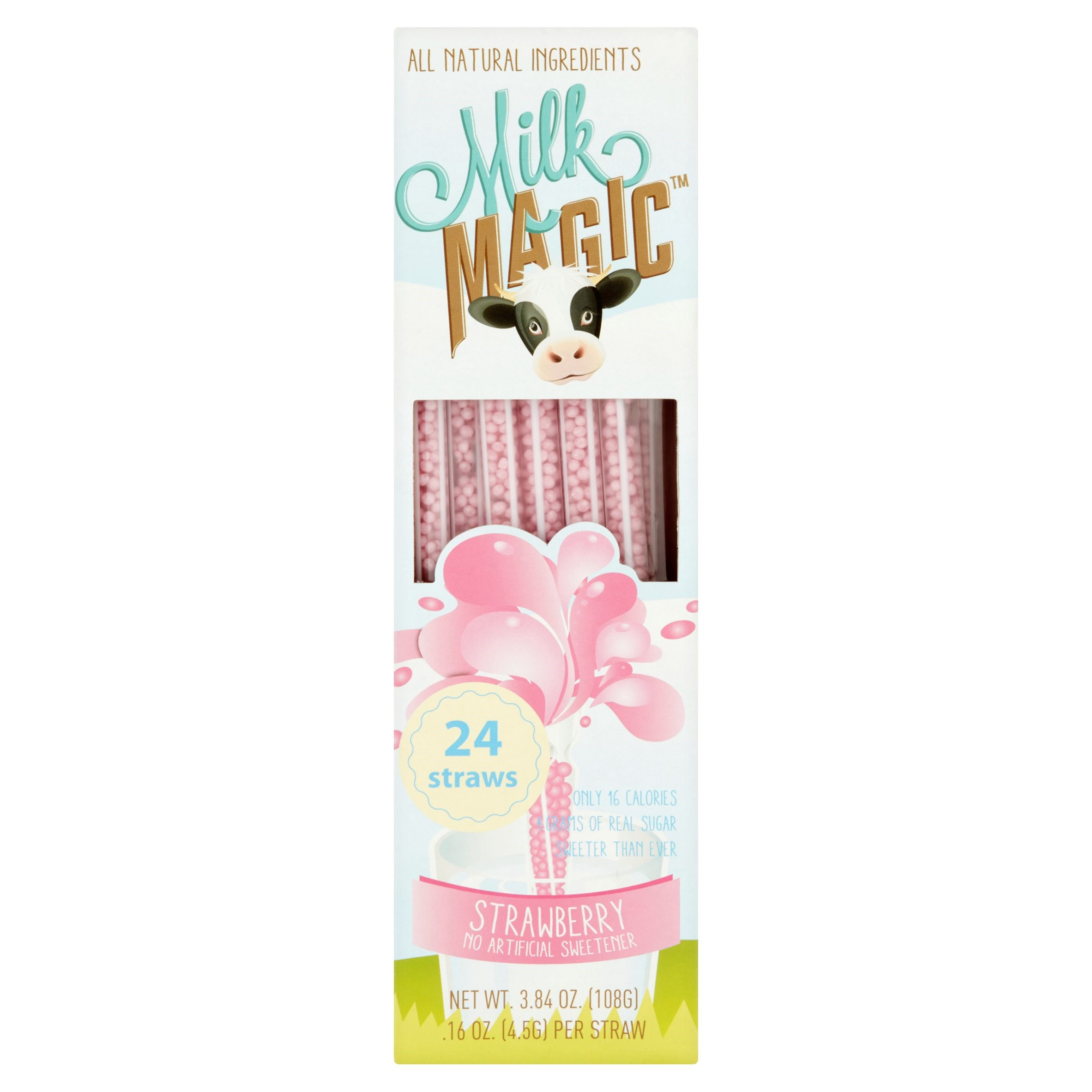 Milk Magic Strawberry Magic Straws, 0.16 oz, 24 count
