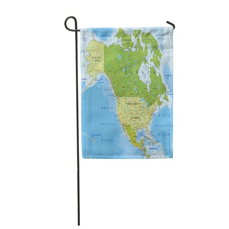 JSDART Highly Detailed Political Map Separated Layers North and Central America Garden Flag Decorative Flag House Banner 28x40 inch - image 1 of 1