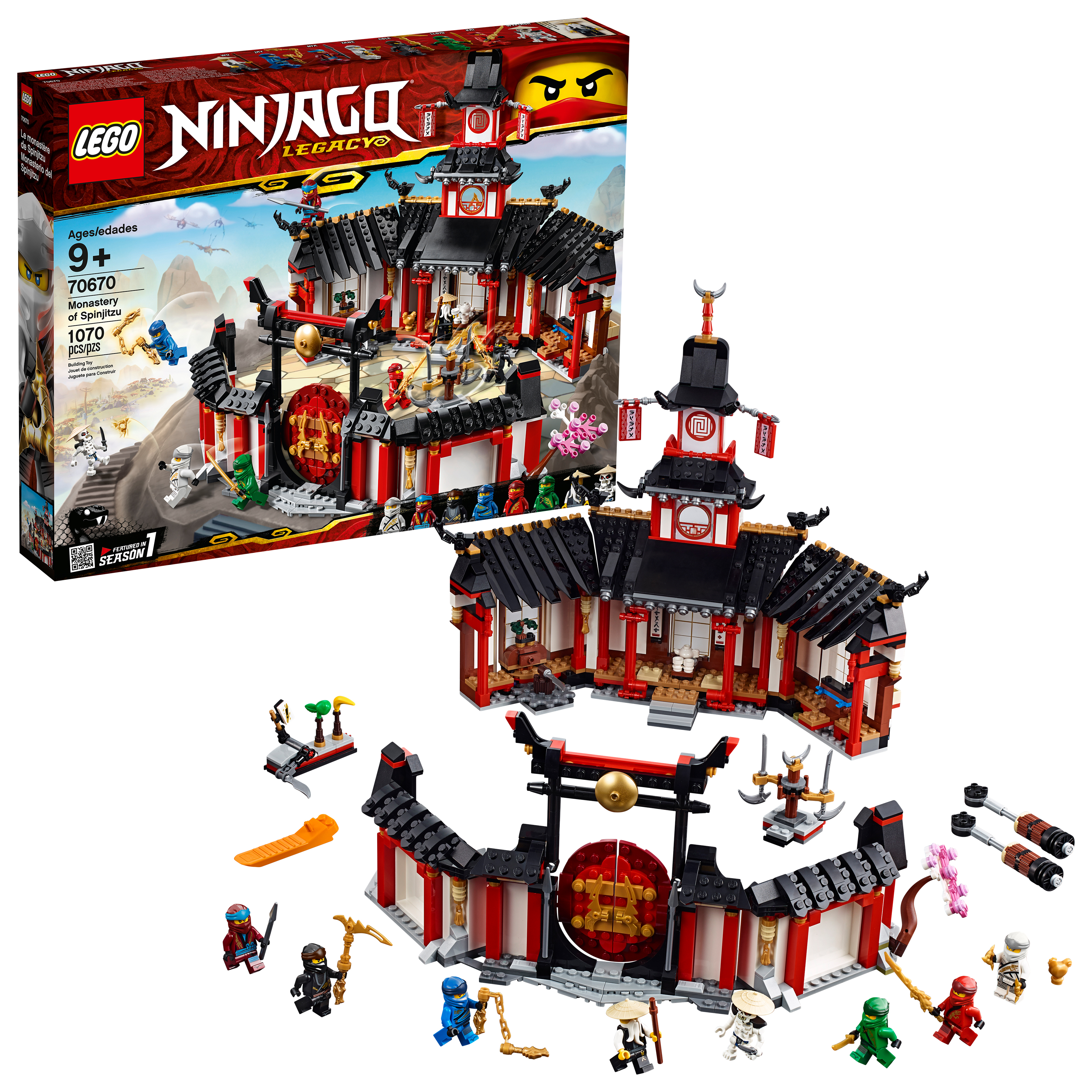 LEGO Ninjago Monastery of Spinjitzu 70670 Building Set