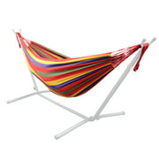 9Ft Double Hammock for Travel/Beach/Yard/Outdoor, Red (Stand not included)