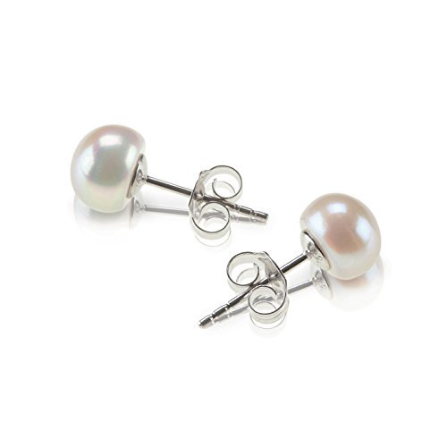 6f7205dd8 PAVOI - PAVOI Sterling Silver Freshwater Cultured Stud Pearl ...