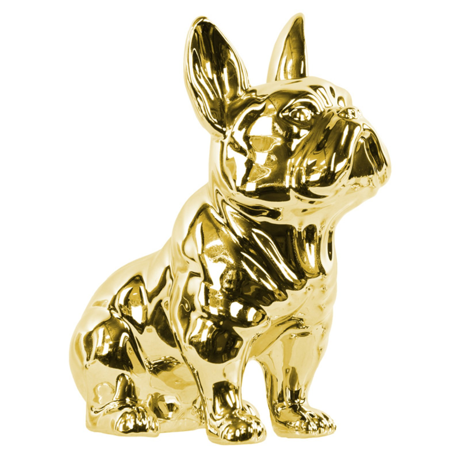 Urban Trends Collection: Ceramic Dog Figurine Gloss Finish