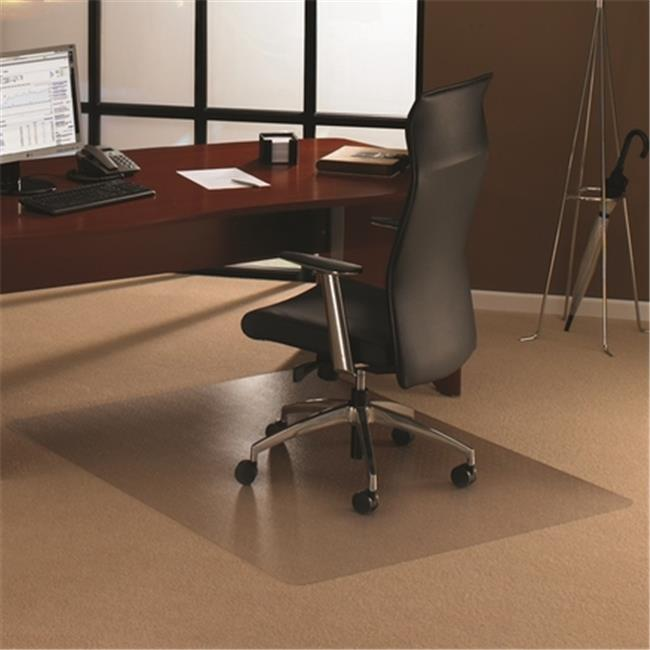 Enhanced Polymer Rectangular Chair Mat For Standard Pile Carpets 0.38 In., Clear 48 X 60 In.