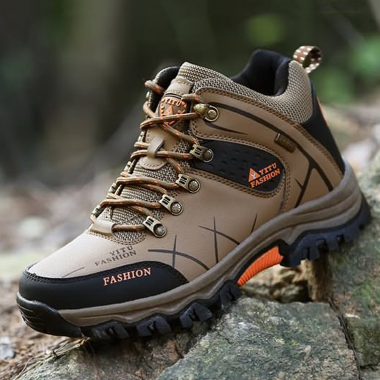 Brown Yt585188 Outdoor Lace-Up High-Top Hiking Boots Sport Men'S Shoes For Camping... by