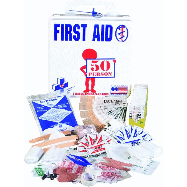 Certified Safety 50-Person First Aid Kit