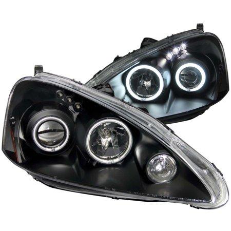 ANZO Acura Rsx Projector Headlights W Halo Black - 2006 acura rsx headlights
