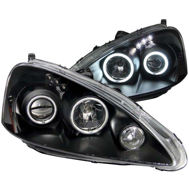 ANZO 2005-2006 Acura Rsx Projector Headlights W/ Halo