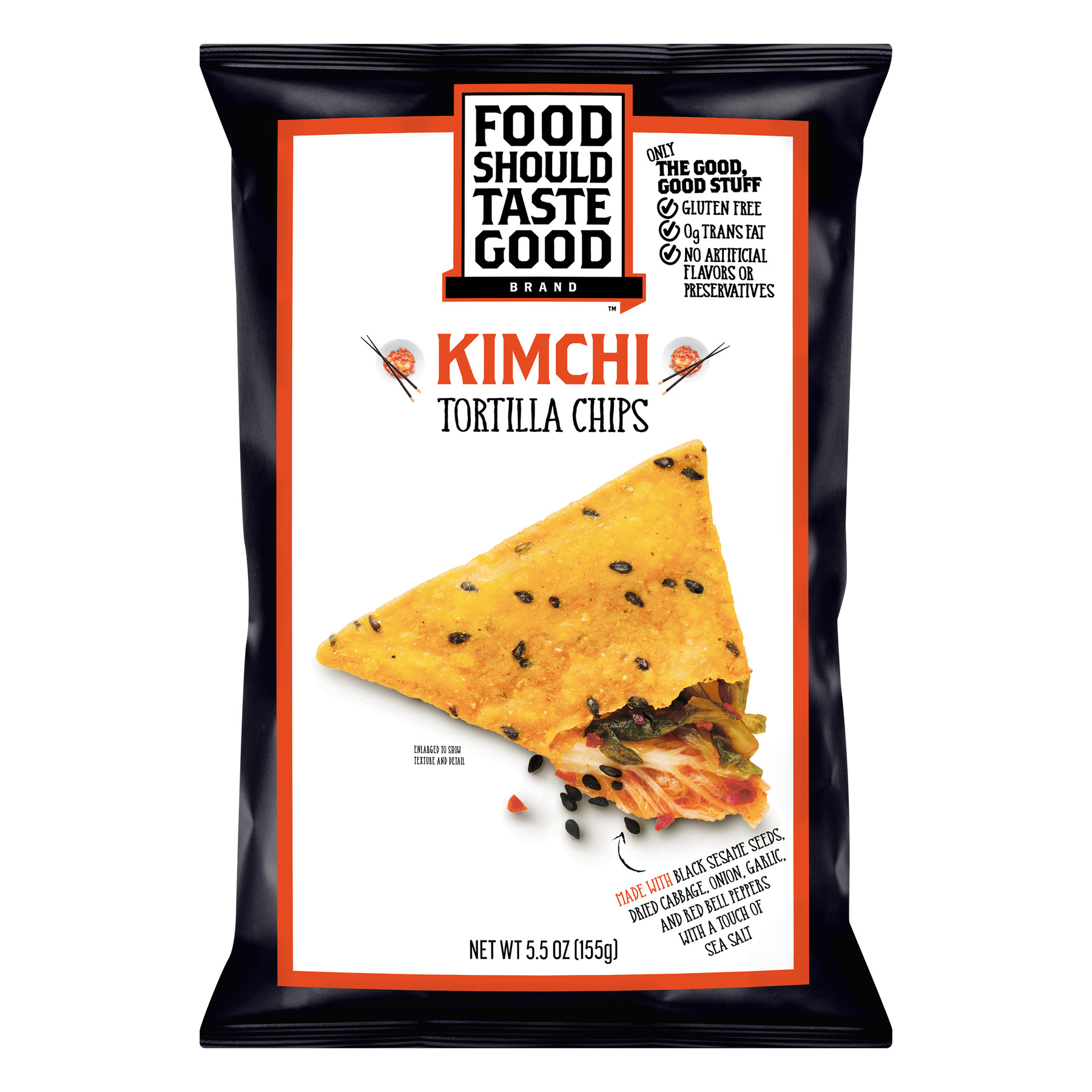 Food Should Taste Good Kimchi Tortilla Chips, 5.5 oz