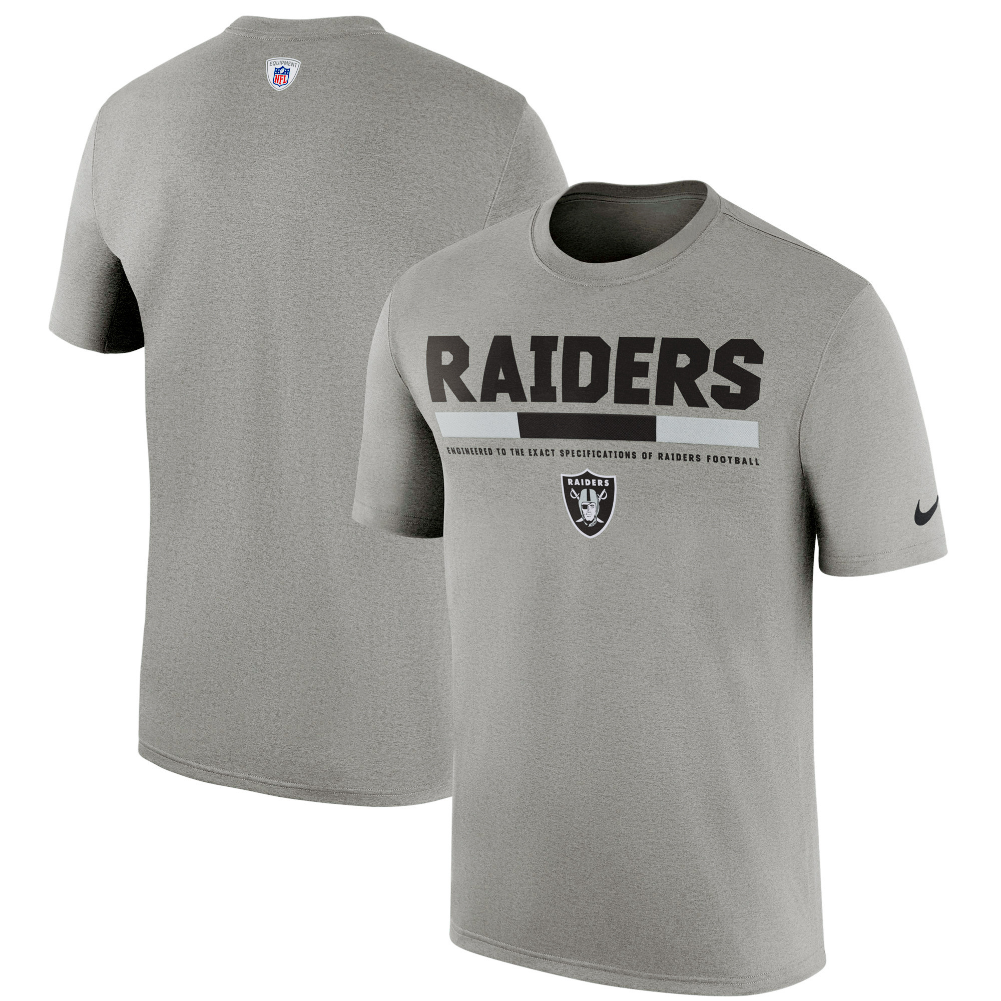Oakland Raiders Nike Sideline Legend Staff Performance T-Shirt - Charcoal